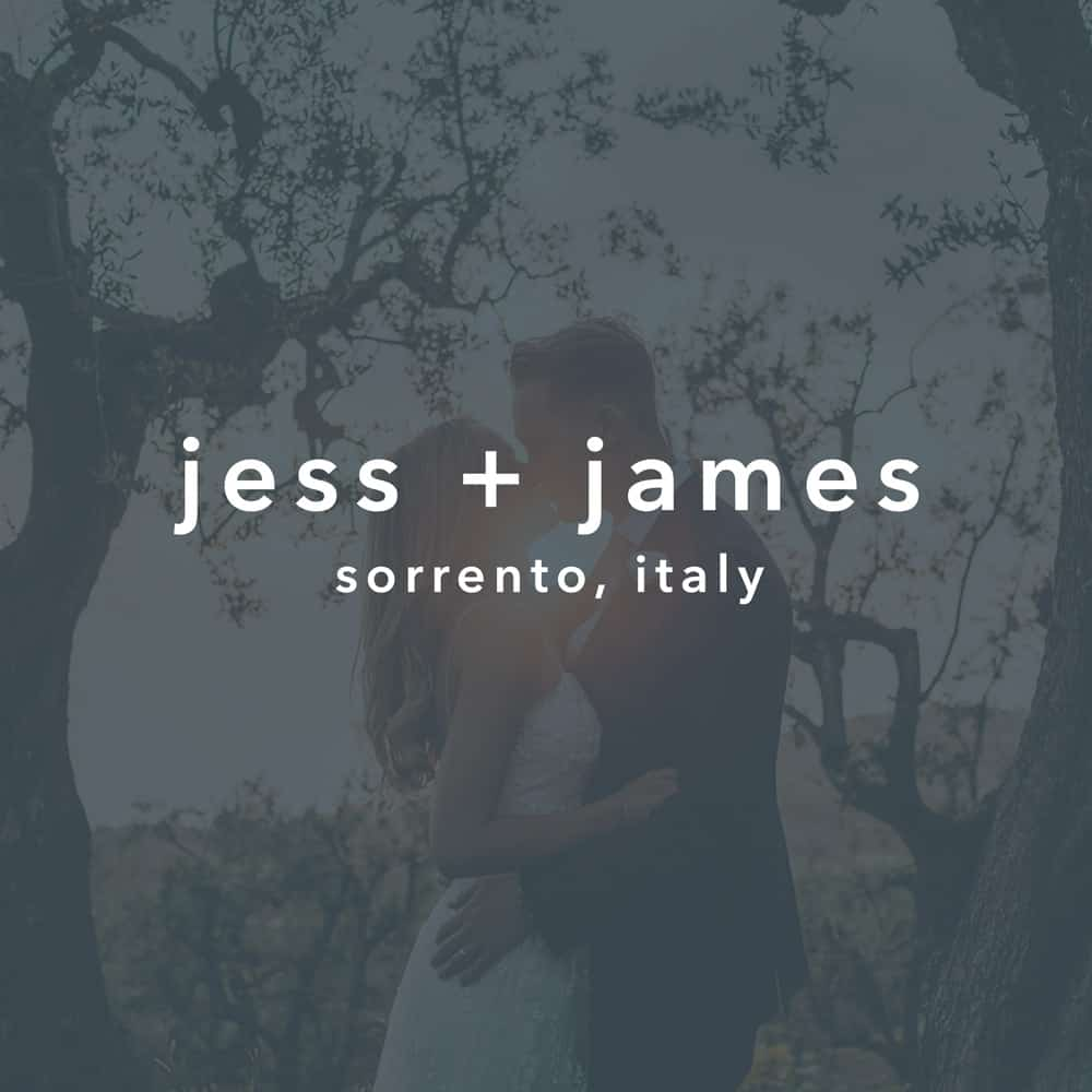 jess + james // sorrento, italy